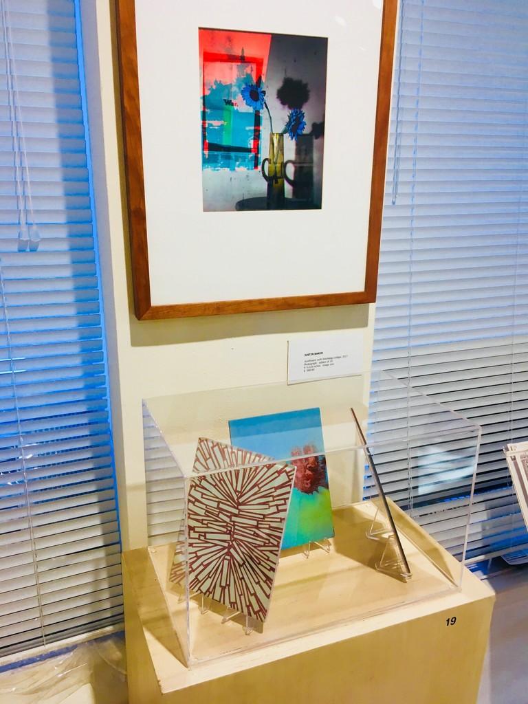 Gallery view- work by Justin Baker, Jim Goss & Barbara Friedman