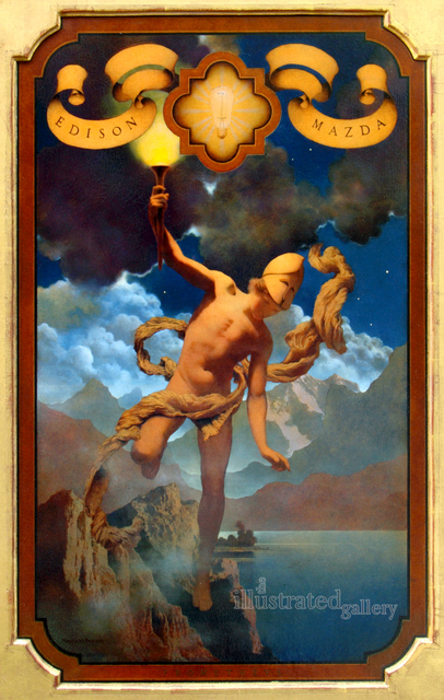 Maxfield Parrish, 'Prometheus', 1919, The Illustrated Gallery