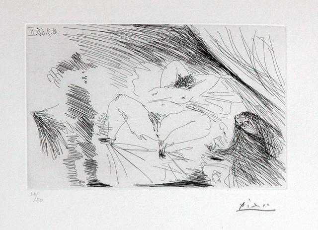 Pablo Picasso, '18.9.1968 II - Eau forte', 1968, DIE GALERIE