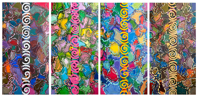 , 'Four Seasons, November  6 x 3 ft each panel,' 2015, Anita Shapolsky Gallery