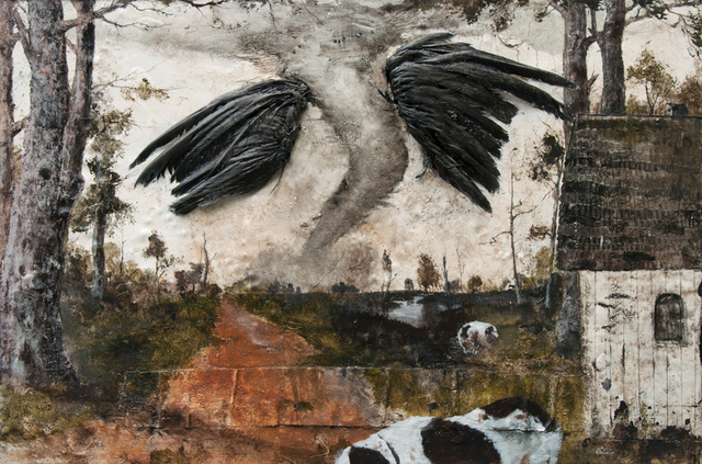 , 'On Black Wings,' 2016, Valley House Gallery & Sculpture Garden