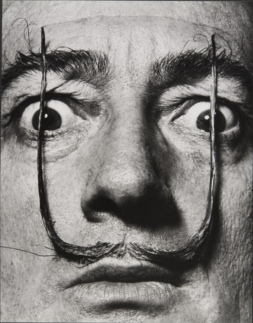 ", '""Like two erect sentries, my mustache defends the entrance to my real self,"" Dalí's Mustache,' 1953-1954, Jeu de Paume"