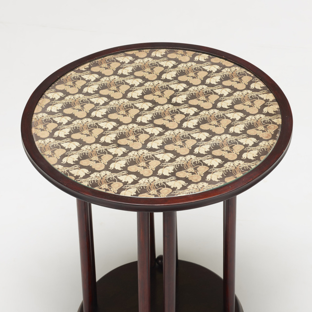 Josef Hoffmann, 'occasional table', c. 1905, Design/Decorative Art, Lacquered beech, upholstery, glass, Rago/Wright