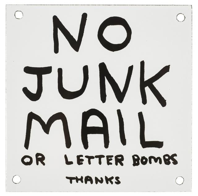 David Shrigley, 'No Junk Mail', 2014, Forum Auctions