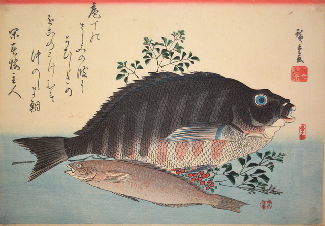 , 'Shimadai (Striped Sea Bream) and Ainame (Rock-Trout),' ca. 1840, Ronin Gallery