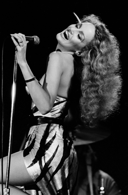 , 'Jerry Hall, Bottom Line Club, New York,' 1977, ElliottHalls