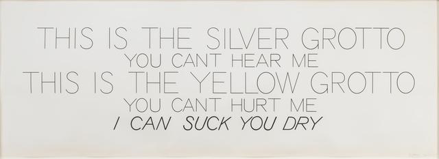 Bruce Nauman, 'Silver Grotto/Yellow Grotto ', 1975, Susan Sheehan Gallery