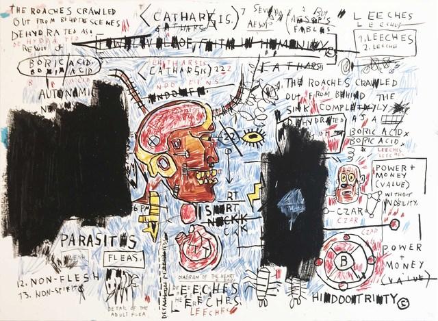 Jean-Michel Basquiat, 'Leeches', Hamilton-Selway Gallery Auction
