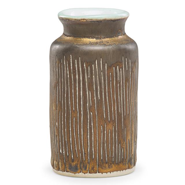 Lucie Rie, 'Cabinet vase, manganese glaze, England', Rago