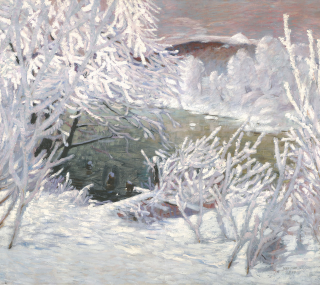 , 'Riverbank in White Frost,' 1909-1910, Galerie Bei Der Albertina Zetter