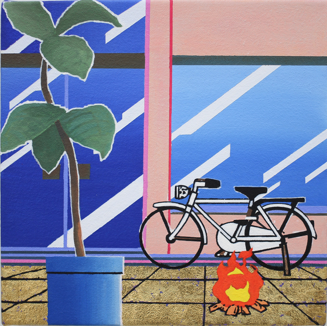 , 'Bike, fire, plant,' 2012, Nanzuka