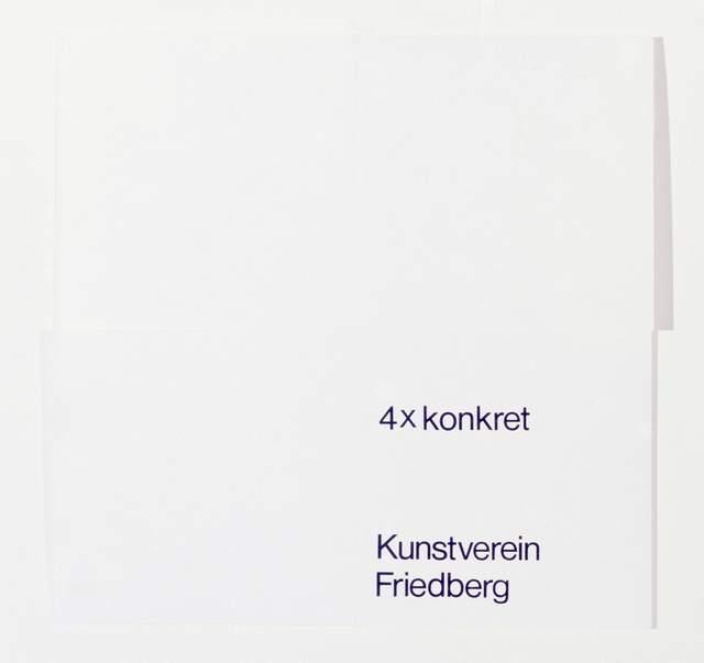 Verena Loewensberg, '4 x konkret', 1977, Books and Portfolios, Silkscreen on laid paper, Edition & Galerie Hoffmann