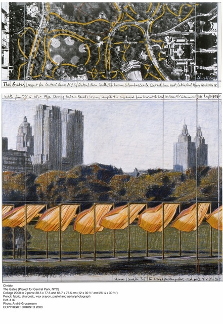 , 'The Gates (Project for Central Park, NYC),' 2000, Eckert Fine Art