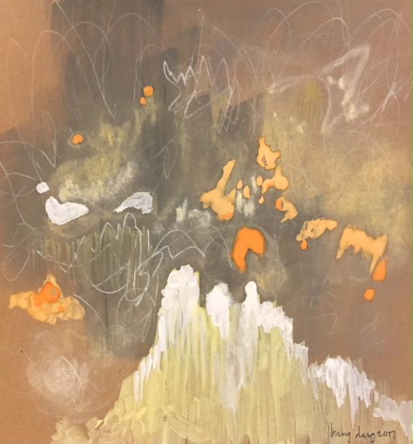 , 'Filling the Brown - Square 16, Orange Spots,' 2018, Jen Mauldin Gallery