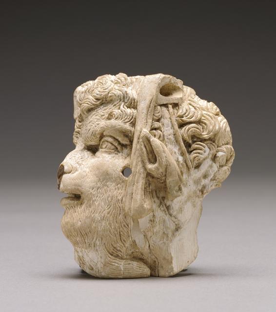 'Applique depicting the head of pan', ca. 100 BCE, J. Paul Getty Museum