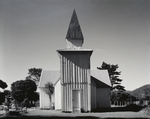 Laurence Aberhart, 'Anglican church, Pawarenga Peninsula, Whangape Harbour, Northland, 10 May 1982', 1983, Photography, Silver Gelatin photograph, Gow Langsford Gallery