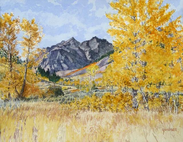 Sheila Gardner, 'Shadowed Boulders and Bright Aspens', Gail Severn Gallery