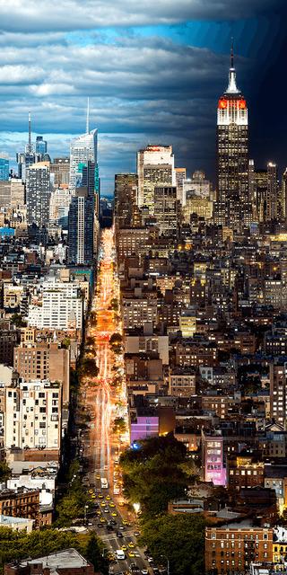 , 'Night & Day - Manhattan Cityscape #2,' 2017, Andrew Prokos Gallery