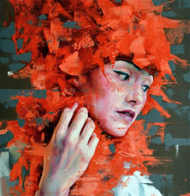 , 'Untitled #redseries19,' 2017, Liquid art system