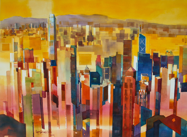 , '#4 Cityscape - Downtown Hong Kong,' 2013, Affinity ART