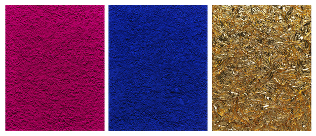 , 'Monochrome, Pink-Blue-Gold, after Yves Klein (Pictures of Pigment),' 2016, Ben Brown Fine Arts