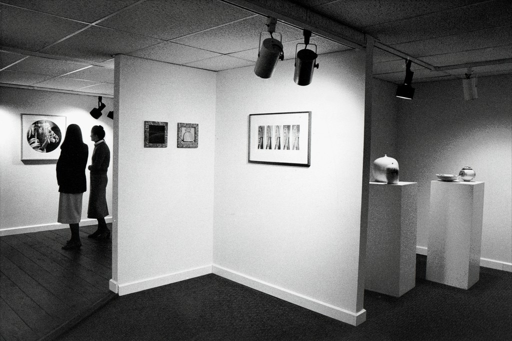 Part of our lower gallery. It has since gone through a renovation to open up the space to have more room to appreciate the art.
