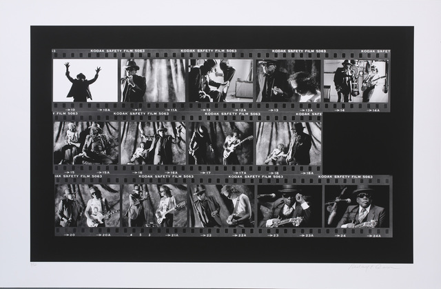 Richard E. Aaron, 'John Lee Hooker Film Roll on Hahnemuehle Paper', White Cross