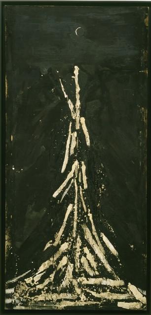 Robert Rauschenberg, 'Untitled (Night Blooming)', ca. 1951, Oil, asphaltum, and gravel on canvas, Robert Rauschenberg Foundation