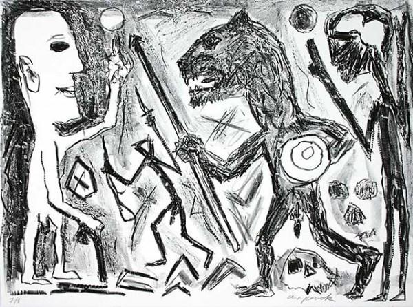 A.R. Penck, 'Homer u. Aristoteles, 1 Blatt', Unknown, Kunzt Gallery