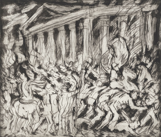 , 'From Poussin 'The Destruction and the Sack of the Temple of Jerusalem',' 1999, Annely Juda Fine Art