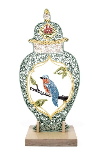 , 'Quilled Meissen Vase with Bird,' 2018, Eutectic Gallery