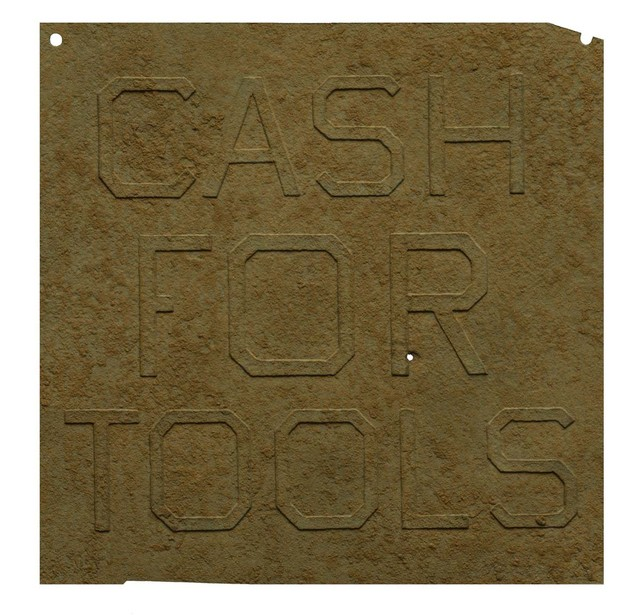 , 'Rusty Signs - Cash for Tools 1,' 2014, Mixografia