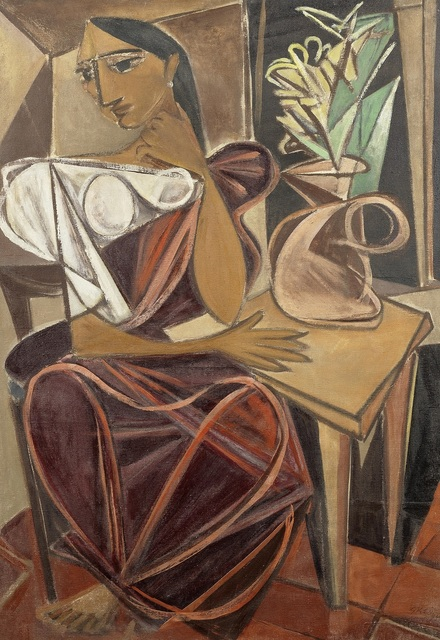 , 'Seated Woman with Flowers,' 1946, Dag Modern