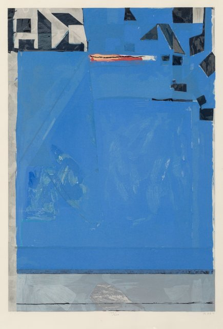Richard Diebenkorn, 'Blue with Red', 1987, Heritage Auctions