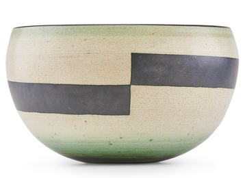 Fine large vessel with wide horizontal lines, Claremont, CA