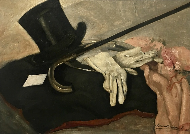 , 'Still life with top hat, gloves and cane,' 1954, Absolut Art Gallery