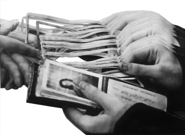 , 'Kristall (What is money V /A),' 2015, Raum mit Licht