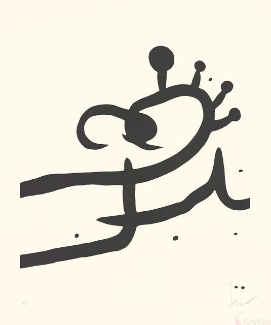 Joan Miró, 'The Pine Tree of Formentor (Plate 1)', 1976, ArtWise