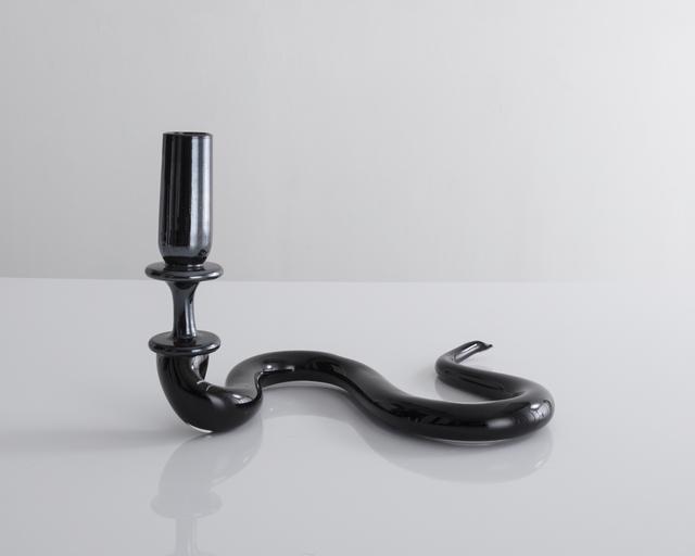 Jeff Zimmerman, 'Serpentine light sculpture in black hand-blown glass', 2017, Sculpture, Glass, R & Company