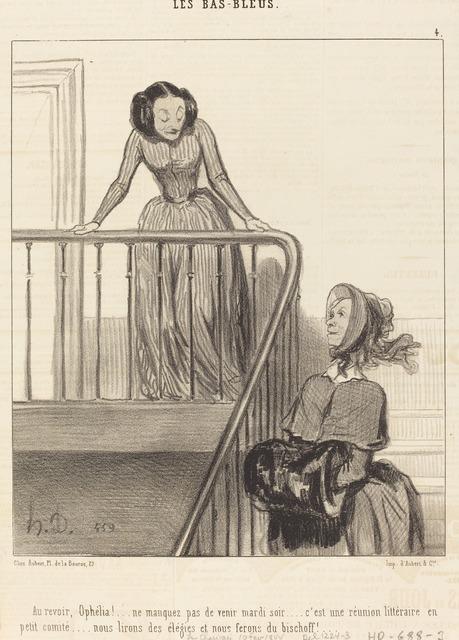 Honoré Daumier, 'Au revoir, Ophélia!... ne manquez pas...', 1844, National Gallery of Art, Washington, D.C.