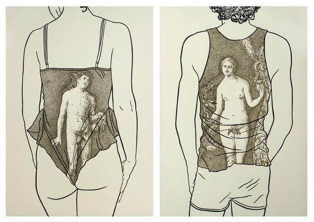 Lisandra Isabel Garcia López, 'Diptych: Adam and Eve according to Durero III', 2018, ArteMorfosis - Galería de Arte Cubano