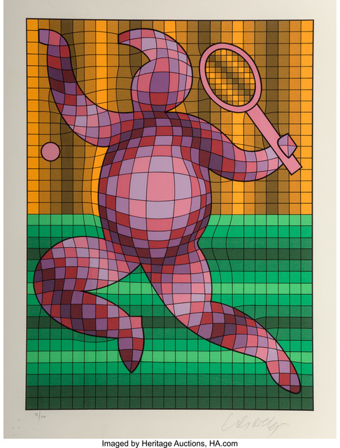 Victor Vasarely, 'Tennis Player', Heritage Auctions
