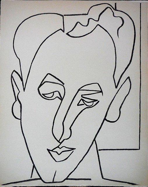 Françoise Gilot, 'Portrait Head of a Man', 1950-1959, Lions Gallery