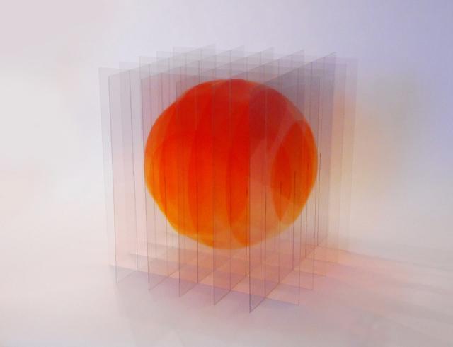 , 'Balle flottante V (rouge-orange),' 2018, Galerie La Ligne