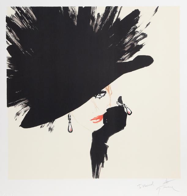 René Gruau, 'Woman in a Black Hat', ca. 1990, Print, Lithograph, RoGallery