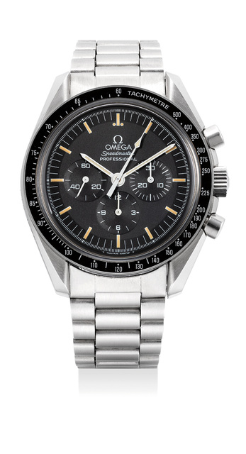 OMEGA, 'A fine and rare limited edition stainless steel chronograph wristwatch with bracelet, warranty and box, numbered 820 of a limited edition of 2,500 pieces', 1994, Phillips