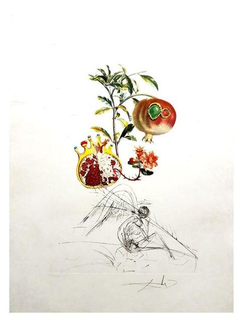 Salvador Dalí, 'Flordali - Grenade et l'Ange', 1969, Print, Original etching on Rives paper, Samhart Gallery