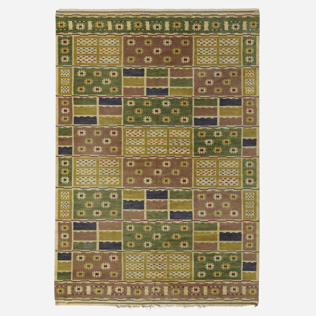 Marta Maas-Fjetterstrom AB, 'Angarna flatweave carpet', 1928, Wright