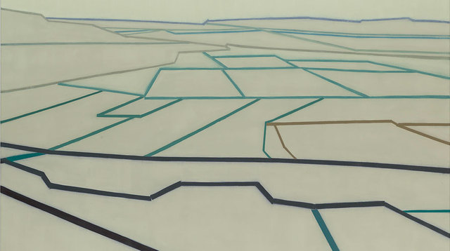 ", '695 (A van Gogh perspective, after ""La Crau""),' 2014, Miles McEnery Gallery"