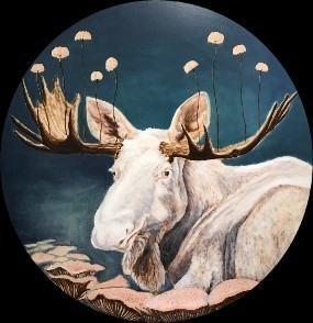 Cynthia Fuhrer, 'White Moose with Mushrooms', 2018, The Front Gallery